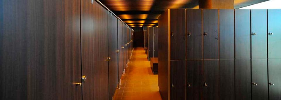 cabinas sanitarias y taquillas fenolicas
